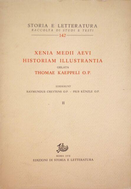 Kunzle Creytens Xenia Medii Aevi Historiam IllustrantiaThomae Storia Letteratura