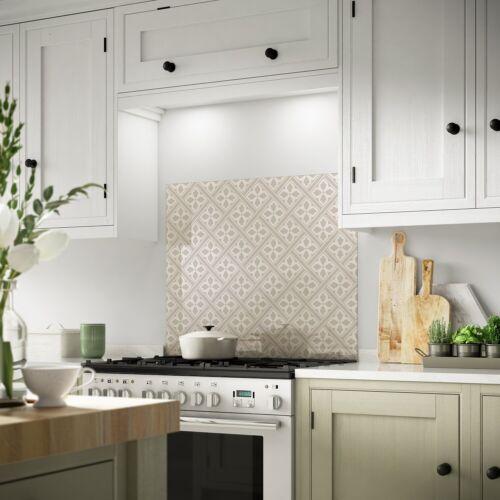 Laura Ashley Mr Jones Dove Grey Glass Kitchen Splashback Heat Resistant Cooker