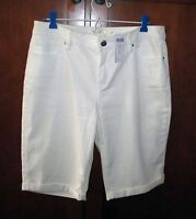 Chico's Platinum Denim Boyfriend 12 Inseam Short 1 / M White $69