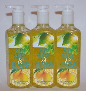 LOT OF 3 BATH & BODY WORKS SUNSHINE & LEMONS DEEP CLEANSING HAND SOAP WASH 8 OZ