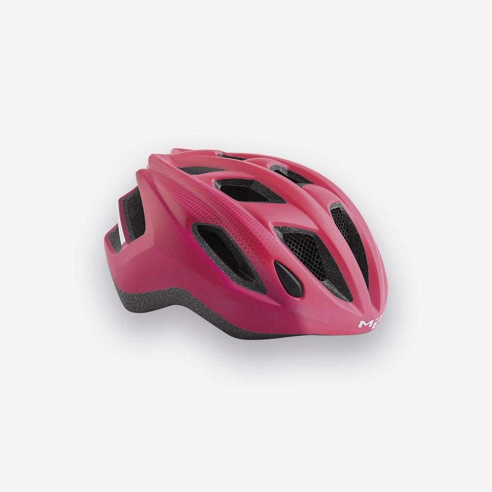 Road Bike Cycle Helmet MET Espresso Strawberry red pink   comfortably