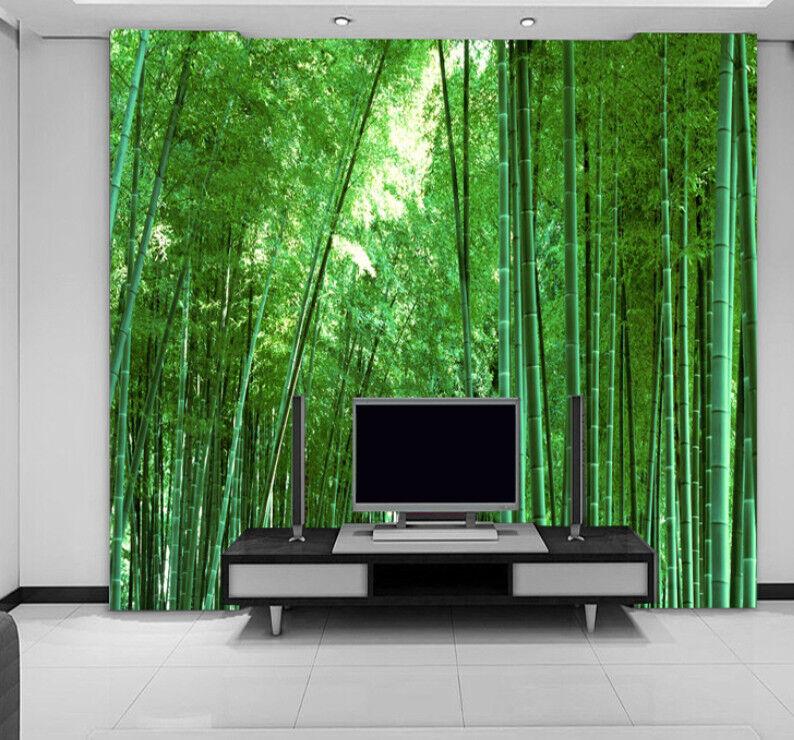 3D Natur Grüner Bambus 84 Tapete Wandgemälde Tapete Tapeten Bild Familie DE