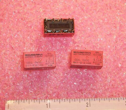 327-21E100 MIDLAND ROSS 5V RELAY NOS QTY 5