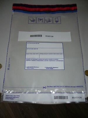 WohltäTig 25 X Sicherheitstaschen Safebags Moneybags Debatin 295 X 395mm +30mm Bon, Neu