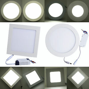 3W 4W 6W 9W 12W 15W 18W Dimmable LED Recessed Panel Ceiling Down Light Lamp Bulb