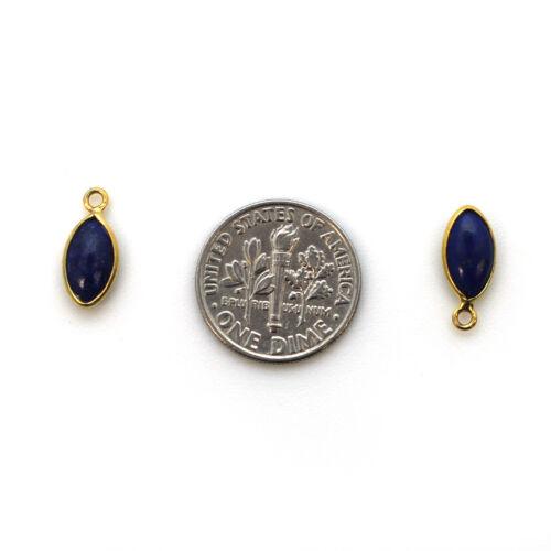 1 pc Gold Bezel Charm Pendant-Natural Amethyst-Tiny Marquise Shape-6x13mm