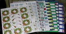1991 - 2000 Christmas Seals - 9 Full Mint Sheets!