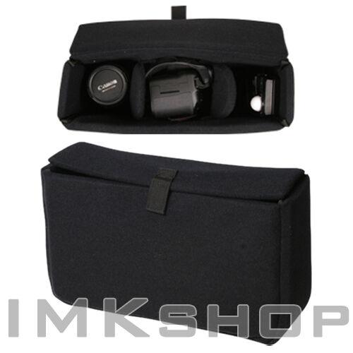 NEW MATIN Premium Partition Padded Bag Case L/BK Camera Insert for DSLR SLR Lens