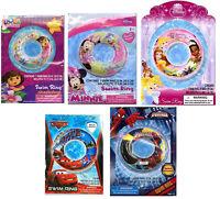 Licensed Disney Marvel Nickjr Boy Girl Inflatable 20 Swim Ring Tube Pool Floats
