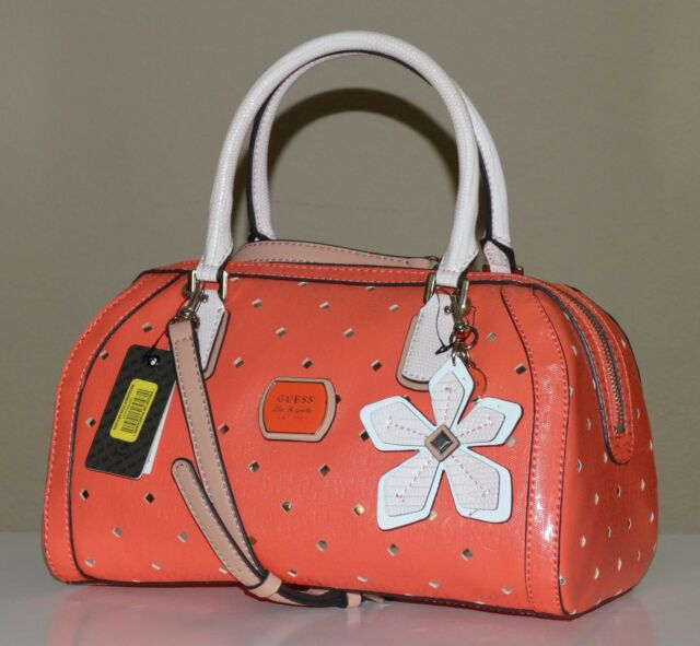 Guess Hula Tangerine Satchel Brand New With Tag