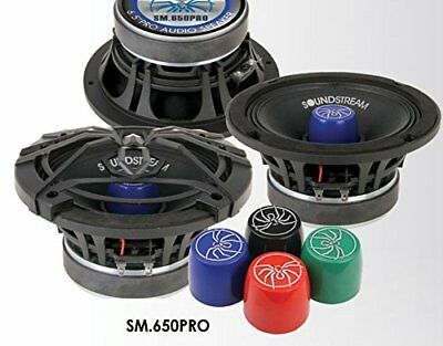 """Pair of Soundstream SM2.650 250 Watt 6.5/"""" PRO Mid Bass Speakers Horn Tweeter"""