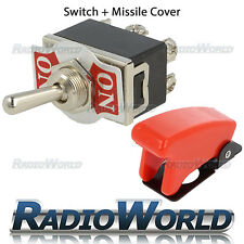 On/on toggle flick switch 12V voiture/dash/lumière porte spst 10A + missile cover