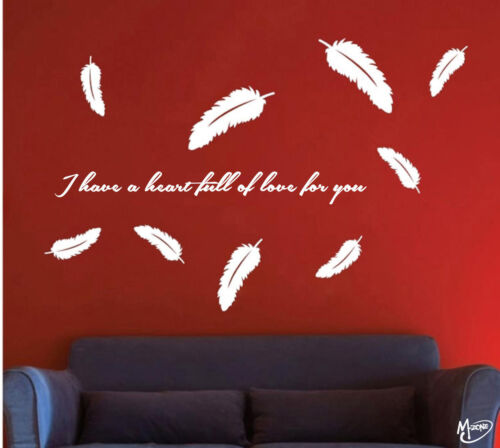 Feather Wall Stickers Removable Kids Wall Decals Home Room Decor Best Gift