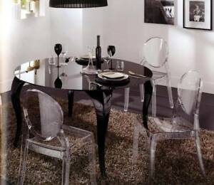 4 sedie policarbonato vari colori certificate catas x soggiorno tavolo sala e525 ebay - Tavolo policarbonato ...
