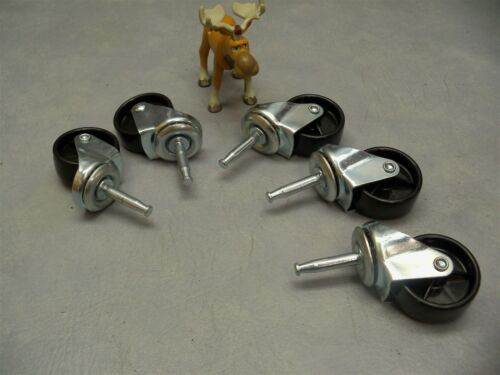 """1 3/4"""" Caster Wheels w/ Swivel Stem 1/4"""" - Lot of 5"""