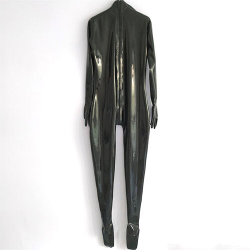 Full Cover Latex Catsuit Back Zipper for Men Handmade Rubber Bodysuit Jumpsuit