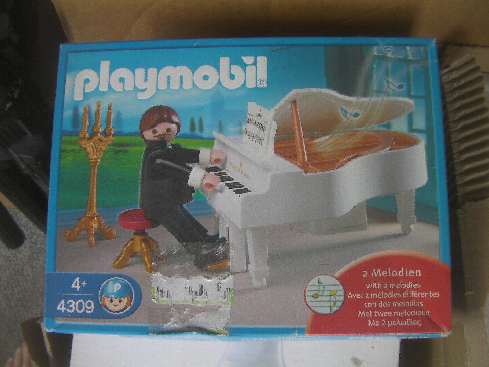 Spieluhr Music Box Playmobil 4309 Piano Flügel Klavier New + 2 Batteries