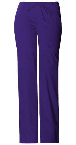 Fit Cherokee Scrubs Women/'s Cargo Pants 21100 Nu Grape GRPV Cherokee Luxe Jr