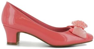 NEW-WOMENS-SHOES-Size-12-CORAL-BEADED-BOW-heels