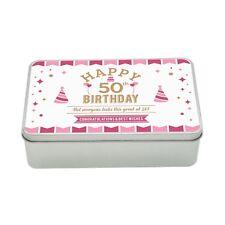 50th Birthday Keepsake Novelty Funny Tin Gift Box Present Idea Women Lady Her