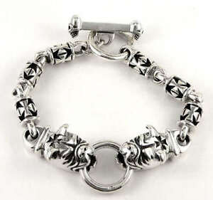 f764868ef65 Image is loading BULLDOG-CROSS-SOLID-925-STERLING-SILVER-MENS-CHAIN-