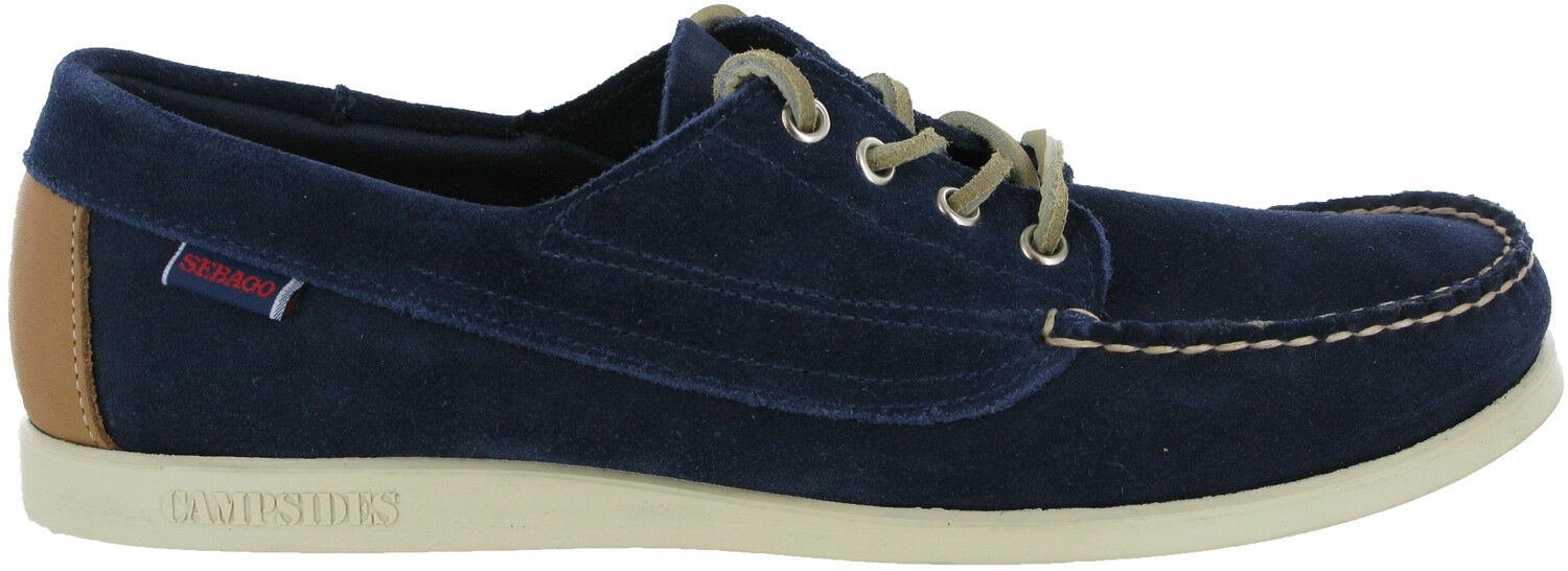 Sebago Campsides Navy Casual Formal Mens Lace Up Suede Loafer Loafer Loafer schuhe UK8.5 - 9 a4c991
