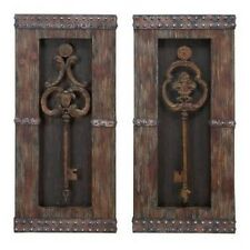 Aspire 68402 Antique Key Wood Wall Decor - Set of 2 NEW