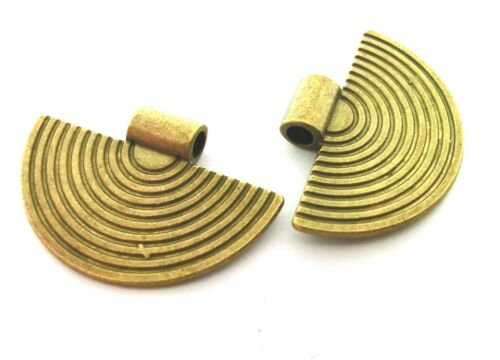 2 Anhänger Charms ETHNO STYLE Farbe bronze 34mm #S425