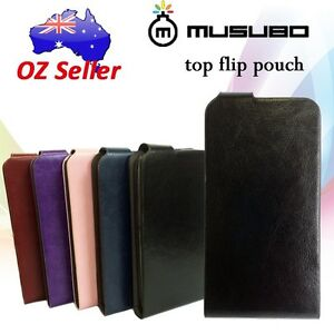 Genuine-Musubo-Leather-Flip-cover-case-For-various-models-with-card-pouches