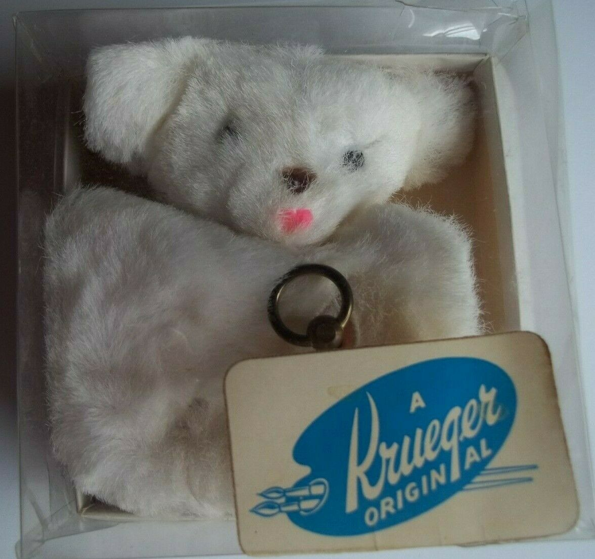 Antique Krueger Plush Bear Snap Pouch w  Music Box Inside -Works-4-286M FK