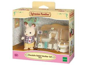 Sylvanian Families Chocolate Rabbit Brother Set Salle De Bain Nouveau Ebay