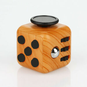 Magic-Fidget-Cube-Toy-Anxiety-Stress-Attention-Relief-Focus-Classic-Wood-Grain