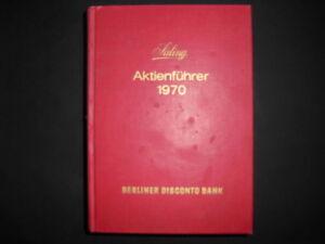 Saling Aktienführer 1970 Hoppenstedt Berliner Disconto Bank Stabile Konstruktion