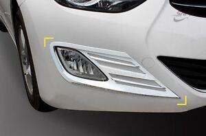 Chrome Fog Light Lamp /& Reflex Lens Molding Trim For HYUNDAI 2011-2013 ELANTRA