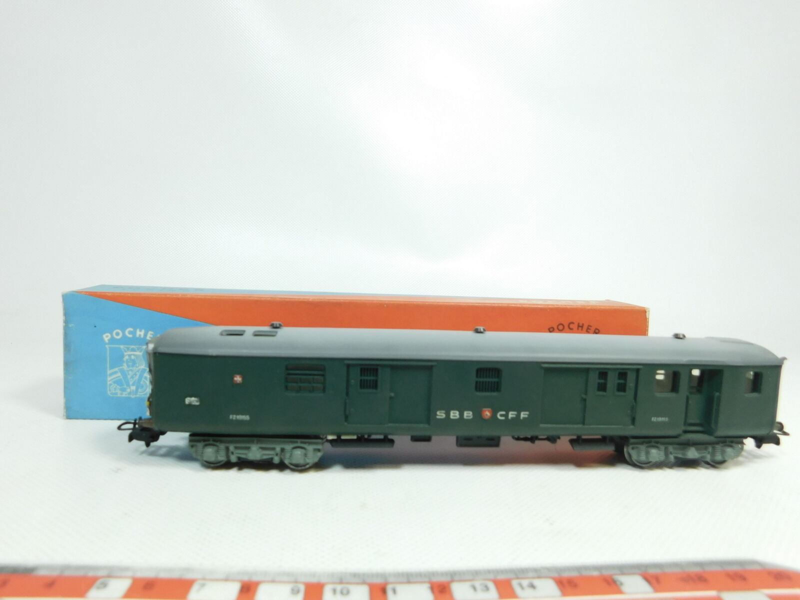 Bj155-0,5 Pocher H0 AC Mail Wagon FZ 19155 SBB CFF with Tail Light OVP   212 3