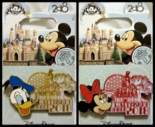 New Disney 2 Pin Lot 2018 WDW Donald Minnie