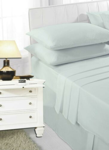 SINGLE,DOUBLE KING,SUPER KING SIZED POLY COTTON PLAIN DYED FITTED BED SHEET