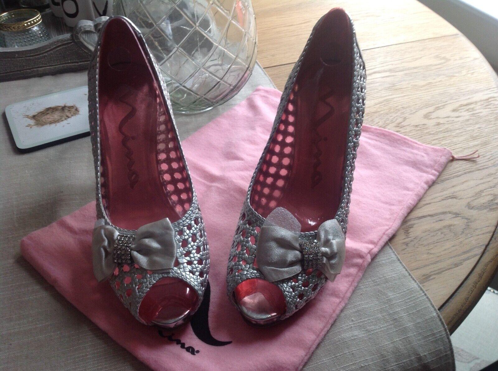 Silver Nina shoes size 4 - wedding, brand new