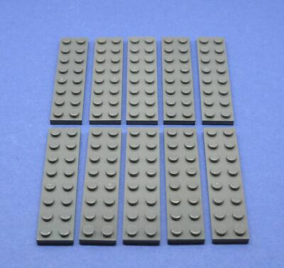 Lego 10 X Piastra Nuovo 2x8 Grigio Scuro New Darkgrey 3034 4210997-mostra Il Titolo Originale Long Performance Life