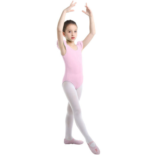 Kids Girls Ballet Dress Leotard Gymnastics Cotton Dancewear Tutu Skirt Costume