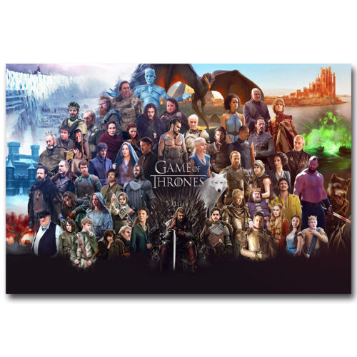 Game Of Thrones Season 6 TV Series New Art Silk Poster 13x20 24x36 inch