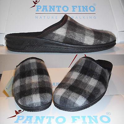 PANTO FINO Hausschuhe schwarz/grau oder braun/beige Herren- Pantoffel BIO 40-45