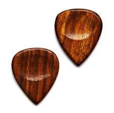 Wood Guitar Pick Cufflinks - Men's Accessories - Handmade - Gift Box