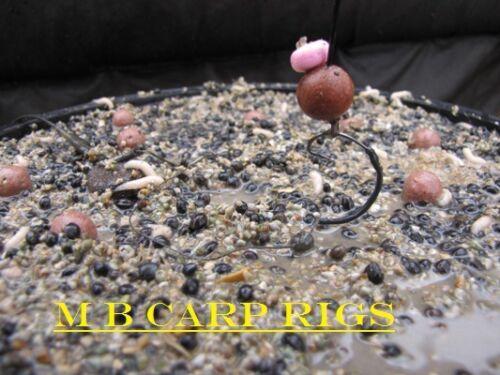 Look 3 x taille 8 barbelés withy piscine Carpe plates-formes dans le gravier marron parfait pop up rig