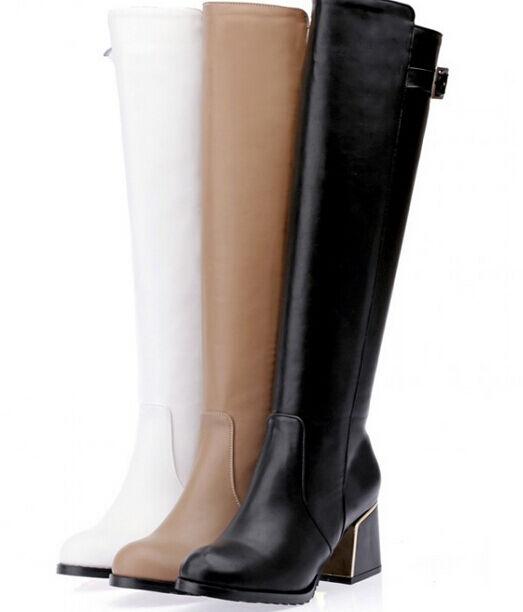 Bottines bottes chaussures rangers femme talon 6 ' ' imitation cuir confortable