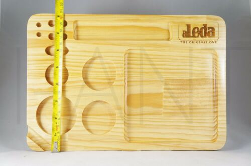 aLEDA Wooden Rolling Stash Tray 8 x 11.75