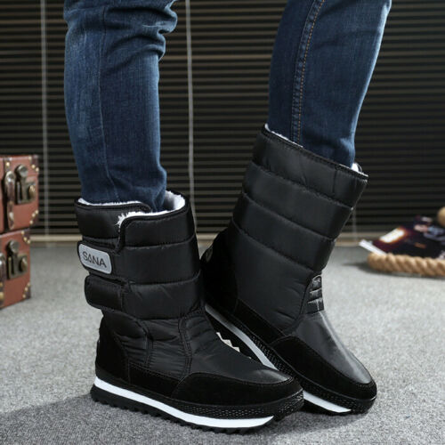 2019 Womens Snow Boots Winter Warm High-top Fur Lined Moon Boots Girls Ski Shoes