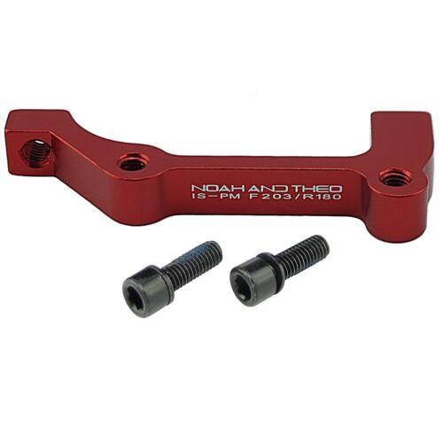 ultraleicht Scheibenbremse Adapter Front 203mm ist Gabel Post PM Bremssattel rot