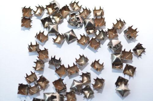 100x tachuelas pirámides krallennieten C /& C metal p. el colonial níquel 9.3 x 9.3 mm