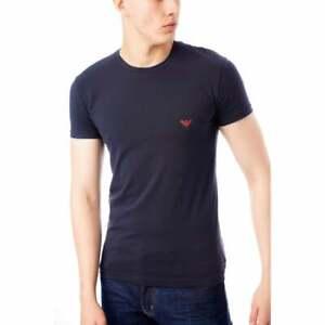 Emporio-Armani-Homme-Sous-vetements-Big-Eagle-T-shirt-bleu-rouge